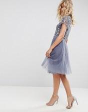 Needle & Thread Needle and Thread Tulle Midi Skirt - Blue 2018