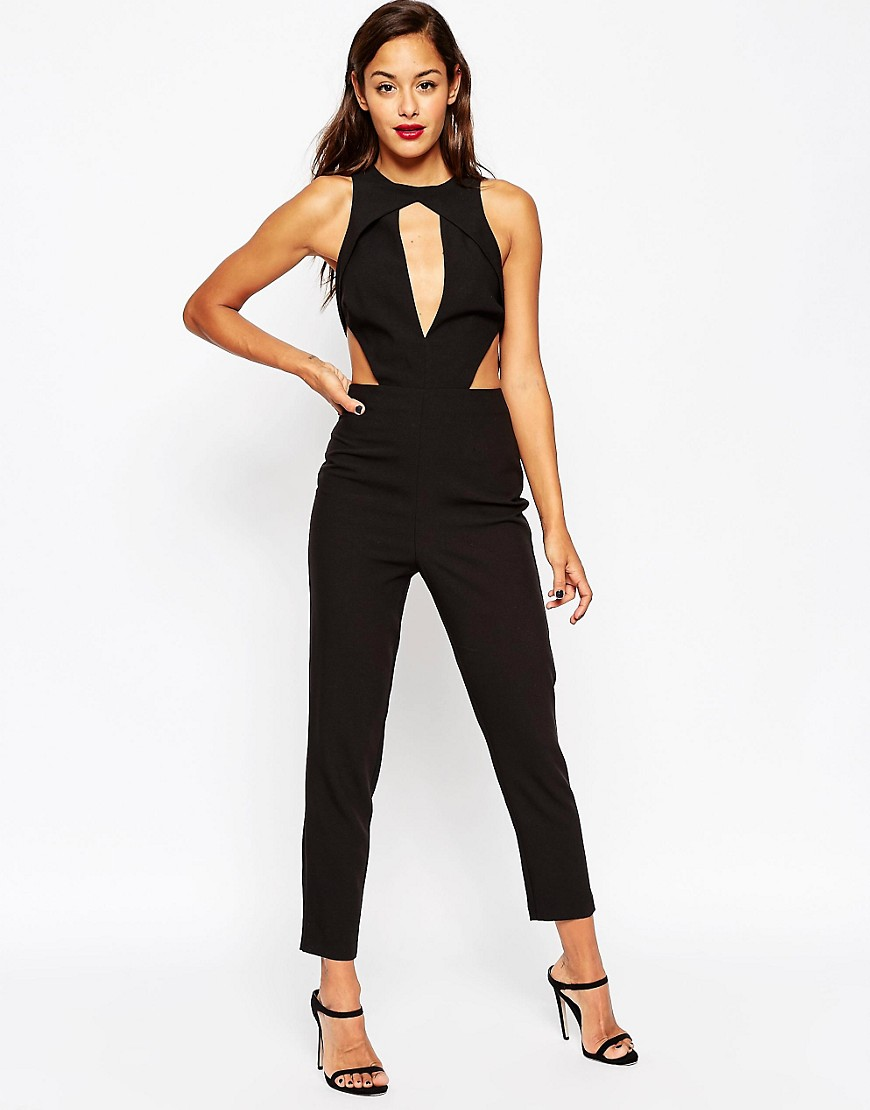 Image 1 of ASOS Angular Cut Out Jumpsuit With Peg Leg
