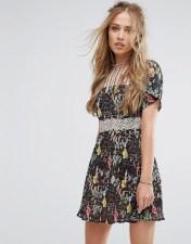 Foxiedox Foxiedox Floral Lace Skater Dress - Multi 2018
