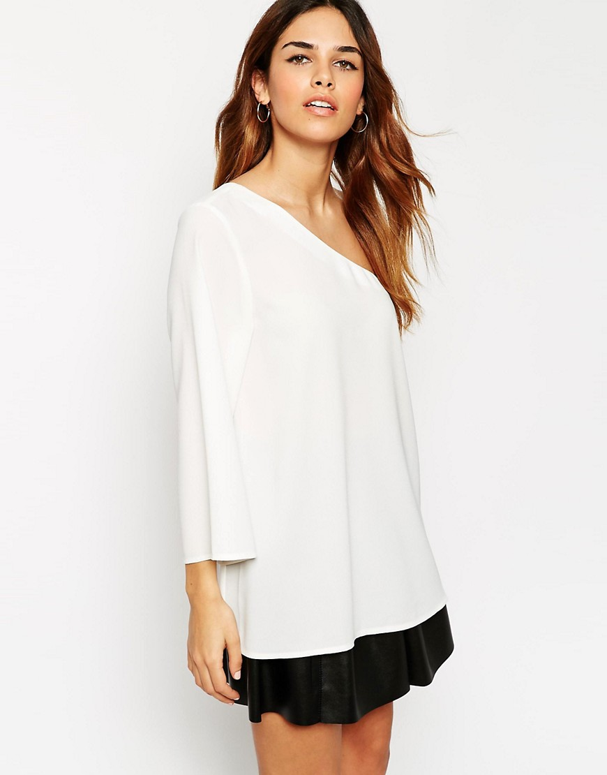 Image 1 of ASOS One Shoulder Tunic