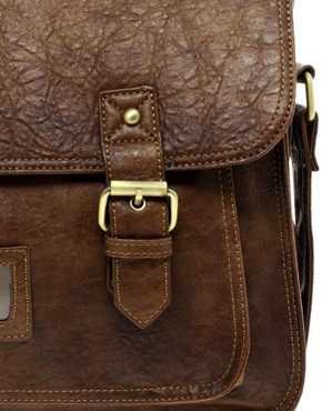 Image 1 of ASOS Double Buckle Satchel