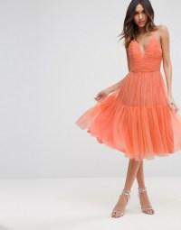 Tulle Midi Prom Dress - ASOS