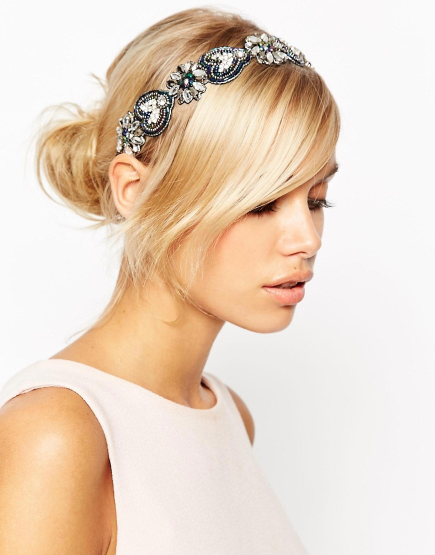 Image 1 of ASOS Occasion Flower Beaded Headband
