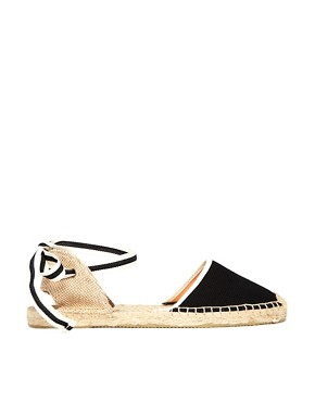 Soludos Classic Woven Black Flat Sandals