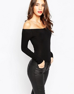 Image 1 ofASOS The Off Shoulder Body With Long Sleeves