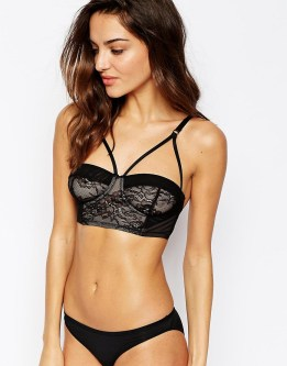 Image 1 of ASOS Millie Caged Bralet