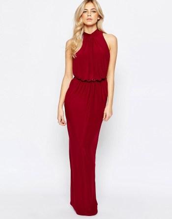 Image 1 - Love - Maxi robe drapée à col montant