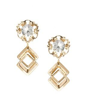 Image 1 ofASOS Mega Metal Earrings