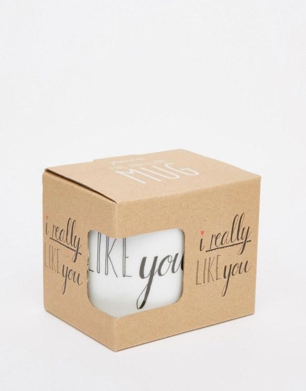 Image 1 ofPaperchase Valentines I Really Like You Mug