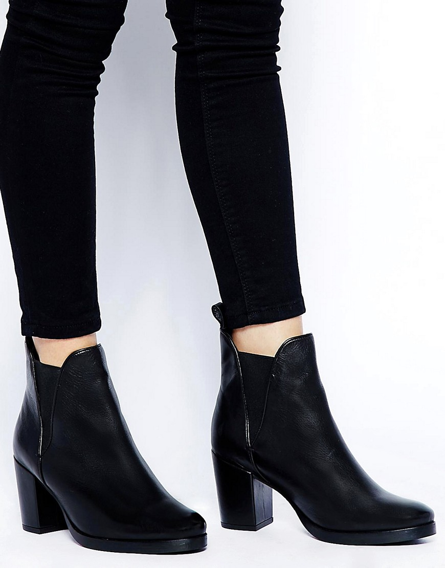Image 1 ofASOS ROAD RAGE Leather Ankle Boots