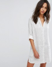 DKNY Checked In Nightshirt - White