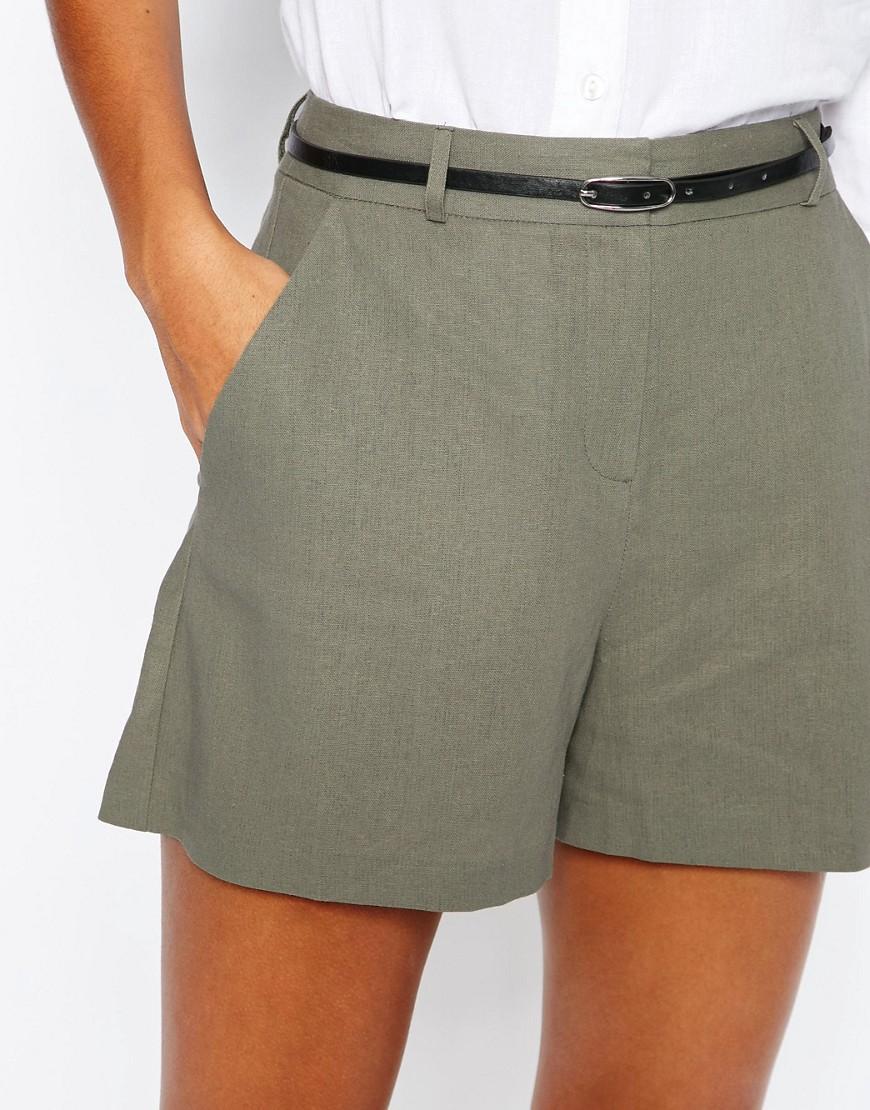 Image 3 - ASOS Tailored - Short en lin avec ceinture