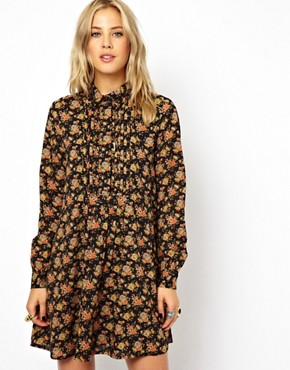 ASOS Shirt Dress In Winter Floral Print