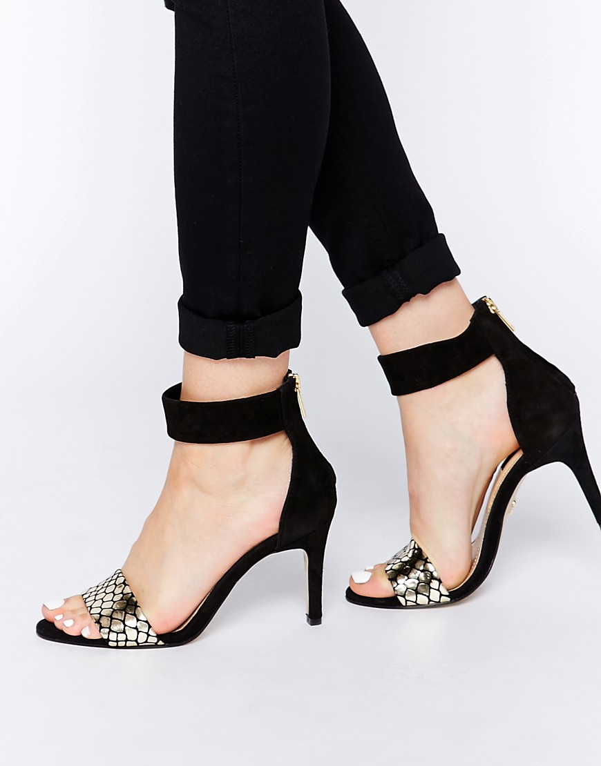 Image 1 of Supertrash Regina Leather Barely There Heeled Sandals