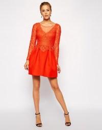 ASOS   ASOS Lace Top Premium Prom Dress at ASOS