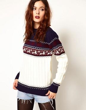 Image 1 of Pop Boutique Reindeer Knitted Jumper