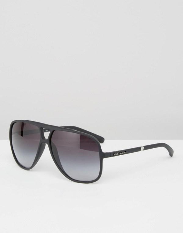 Dolce & Gabbana Aviator Sunglasses Black Louisiana