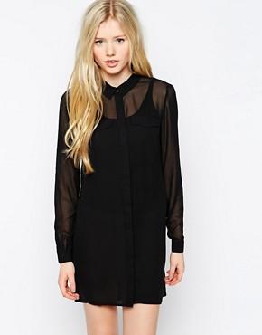Image 1 ofVero Moda Long Sleeve Shirt Dress