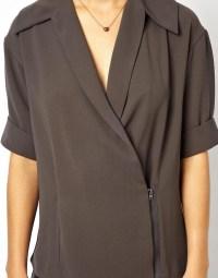 ASOS | ASOS Top with Shawl Collar and Wrap Front at ASOS