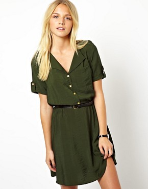 ASOS Shirt Dress With Military Detail