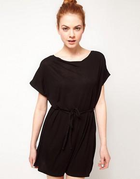Image 1 ofVila Linen Blend Belted Dress