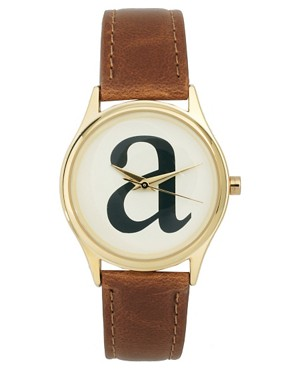Image 1 of ASOS 'A' Initial Watch