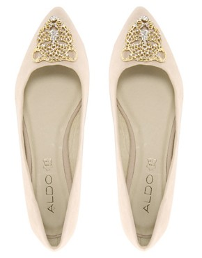 Image 4 of ALDO Clore Tiger Nude Pointed Ballet Flats