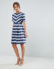 UTTAM BOUTIQUE Uttam Boutique Daisy Skater Dress - Blue 2018