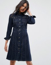 Lee Lee Button Through Authentic Denim Dress - Blue 2018