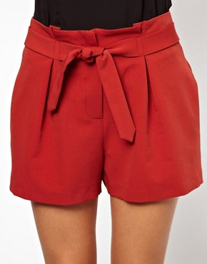 Image 3 ofASOS Shorts with Belted Waist Detail