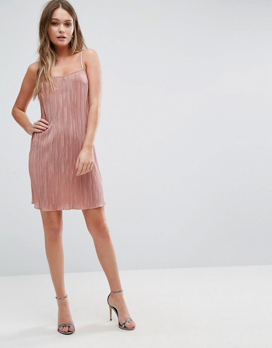 Pleated Cami Dress By Lipsy Pink