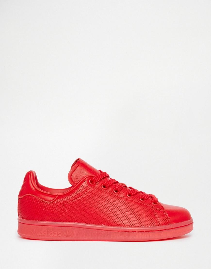 Image 2 - Adidas Originals - Stan Super Colour - Baskets - Rouge écarlate