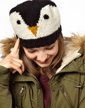 Image 1 of People Tree Penguin Beanie Hat