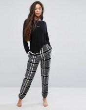 DKNY DKNY Long Sleeve Pyjama Top and Jogger - Black 2018