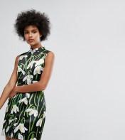 Horrockses Horrockses Mini Dress With Mandarin Collar In Print - Multi 2018