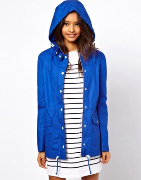 Image 1 of ASOS Coated Cotton Parka