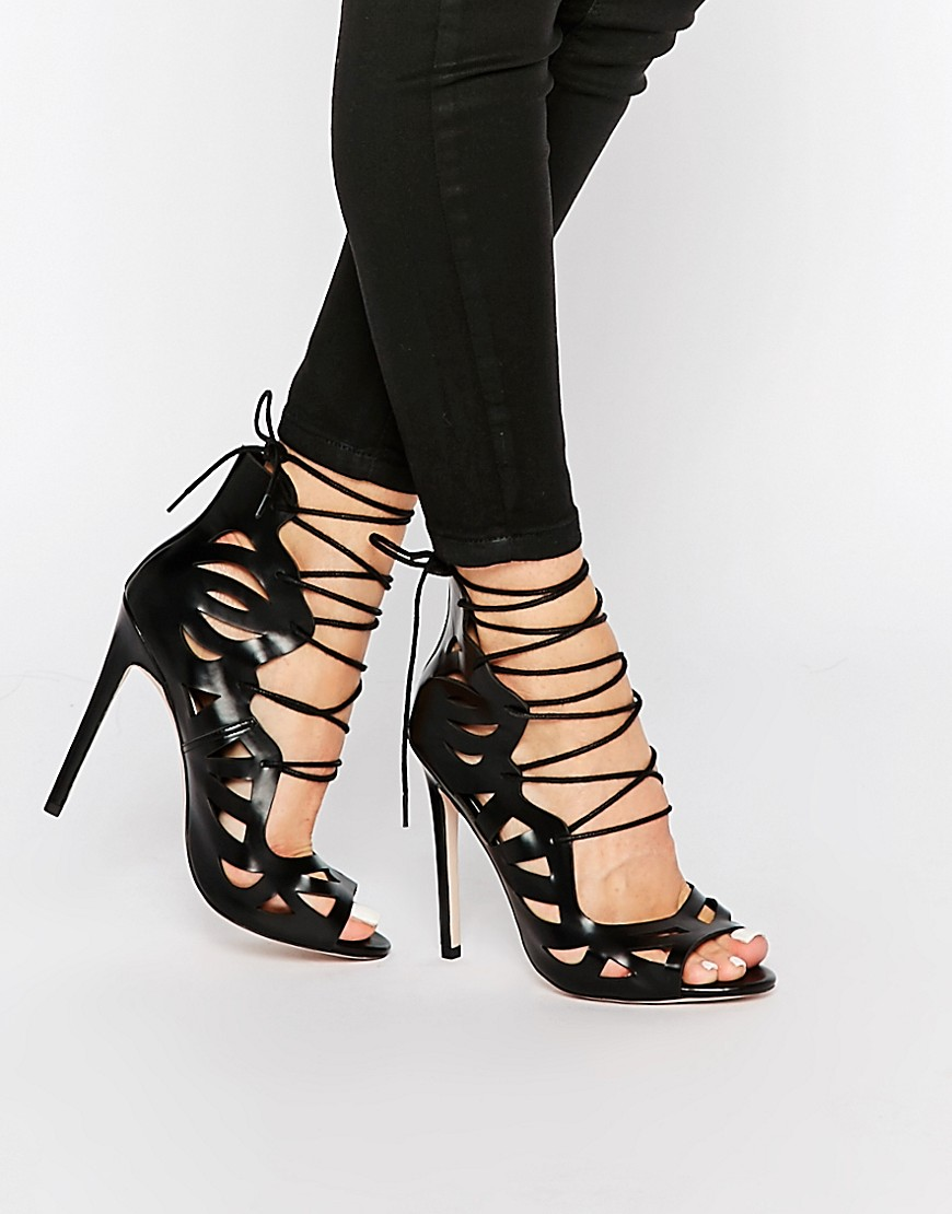 Image 1 of ASOS PASTIME Lace Up Heels