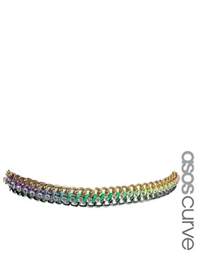 ASOS CURVE Neon Chain Waist Belt