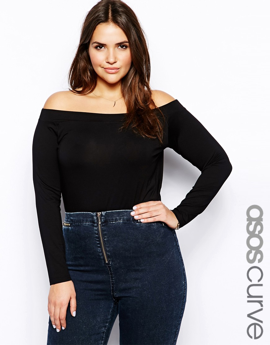Image 1 of ASOS CURVE Bardot Top