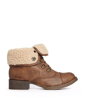 ASOS Blowfish Karona Lined Flat Boot - Whiskey