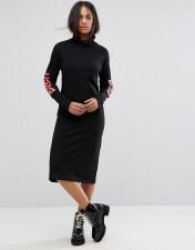 Back By Ann Sofie Back Back by Ann Sofie Back Logo Arms Polo Midi Dress - Black 2018