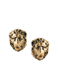 And Mary | And Mary Lion Head Stud Earrings at ASOS