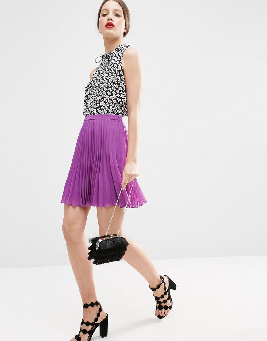 Image 1 ofASOS Pleated Mini Skirt