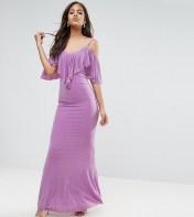 City Goddess Tall City Goddess Tall Maxi Dress With Frill Detail - Purple 2018