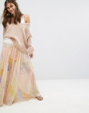 Free People Free People True To You Maxi Skirt - White 2018