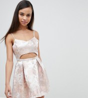 Missguided Petite Missguided Petite Cut-Out Baroque Print Mini Dress - Pink 2018