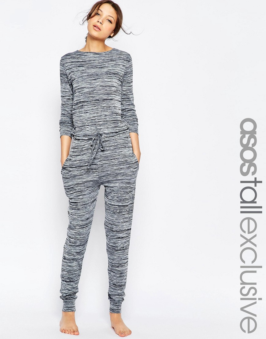 Image 1 ofASOS TALL LOUNGE Jumpsuit In Marl