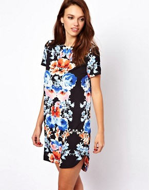 Image 1 of A Wear Mirror Print T-Shirt Dress