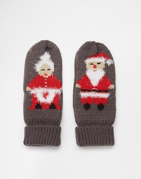 ASOS Mr And Mrs Claus Christmas Mittens