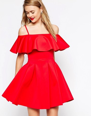 Scuba Debutante Bardot Frill Mini Dress £40 from ASOS